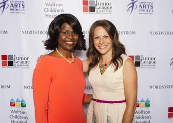 Dr. Victoria Scott-Fulton, vice president of operations and Patient Care Services for Wolfson Children's Hospital,and Brandy Jefferson, store manager for Nordstrom.