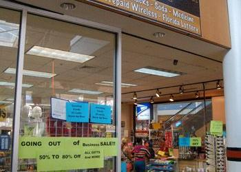 Sundrez, the gift, greeting card and convenience store at the Jacksonville Landing, is in the midst of a going-out-of-business sale.