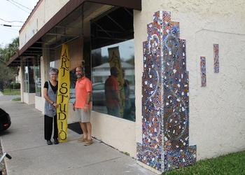 There's not a sign above Kate and Kenny Rouh's Murray Hill studio, but it's hard to miss. The mosaic on the corner is a practice area for students to learn how to mortar and grout tile. The Avondale couple is the design team behind five Jacksonville m...