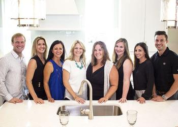 Keller Williams Jacksonville Realty broker CC Underwood, second from left, meets with members of her team, from left, Casey Czapla, Sharminee Lopez, Kristie Shores, Melissa Ricks, Ashley Langone and Lindsey Rutherford, and Movement Mortgage loan ...
