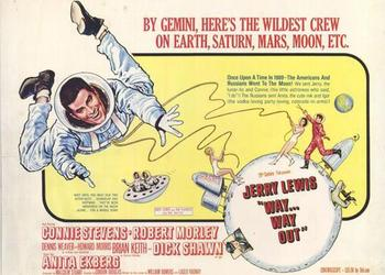 "The space program was in the headlines and entertainment was following the trend with Jerry Lewis portraying an astronaut in ""Way, Way Out"" this week in 1966."