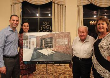 From left, Adam Frisch, Sierra Frisch, Harry Frisch and Pat Frisch, namesakes of the Frisch Family Holocaust Memorial Gallery, which will be in the new Jewish Family and Community Services headquarters in Baymeadows.