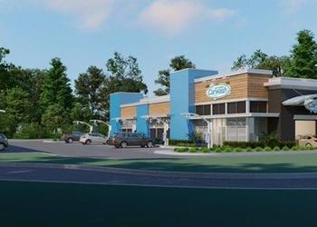 The updated rendering for Gate Petroleum Co.'s new Gate Express Carwash venture.