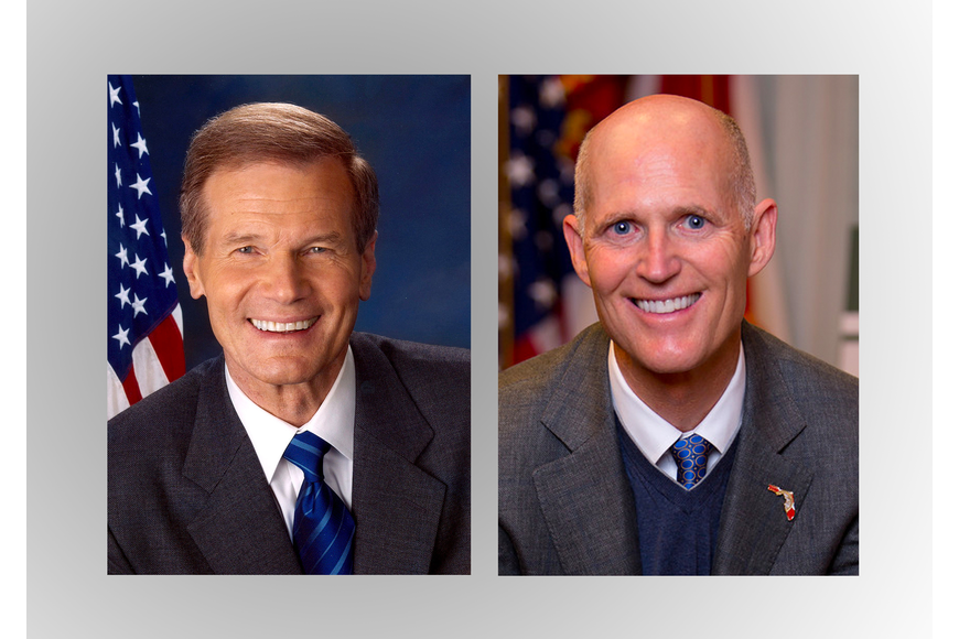 Bill Nelson and Rick Scott tied for Senate