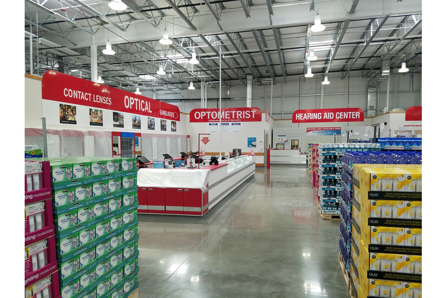 The services at the new Costco are clustered together.