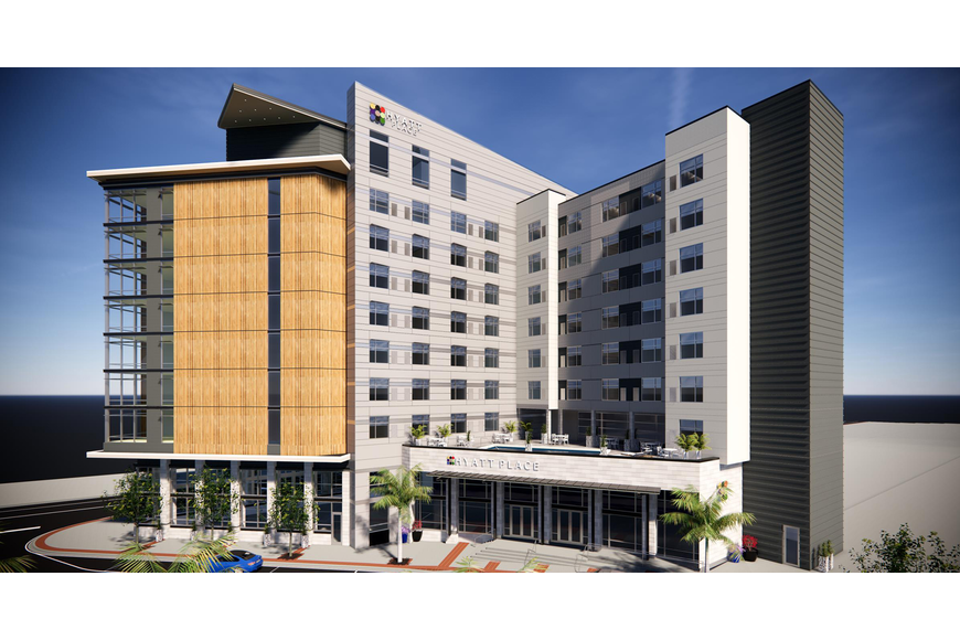 A Hyatt Place hotel is proposed Downtown along Independent Drive at Hogan Street.