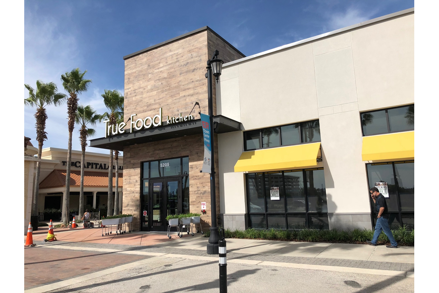 True Food Kitchen at at 5205 Big Island Drive in St. Johns Town Center is in the former location of Mitchell's Fish Market.