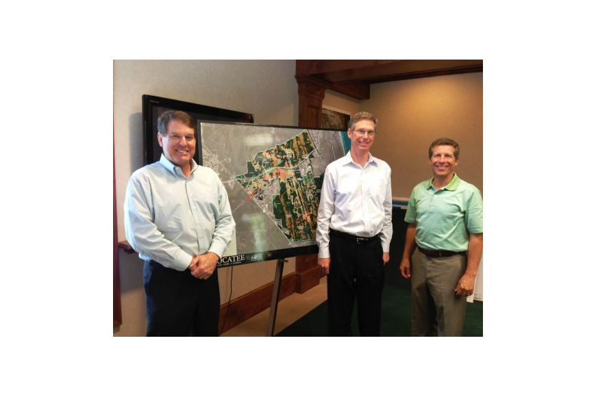 Roger O'Steen, chairman; Greg Barbour, chief operating officer; and Rick Ray, president, of The PARC Group, developer of the master-planned community of Nocatee. Because of accelerating growth, the PARC Group is opening eight new neighborhoods in Noca...