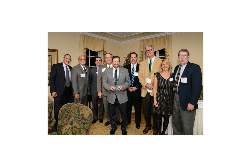 From left, Mike Rudolph, Judge Bill Dane, Rob Williams, Judge Ray Holley, Alan Gordon, John Rahaim, Mike Crumpler, Vanessa Herbert and Jake Schickel at the annual holiday dinner of the E. Robert Williams Inn of Court. Gordon received the John J. Schic...