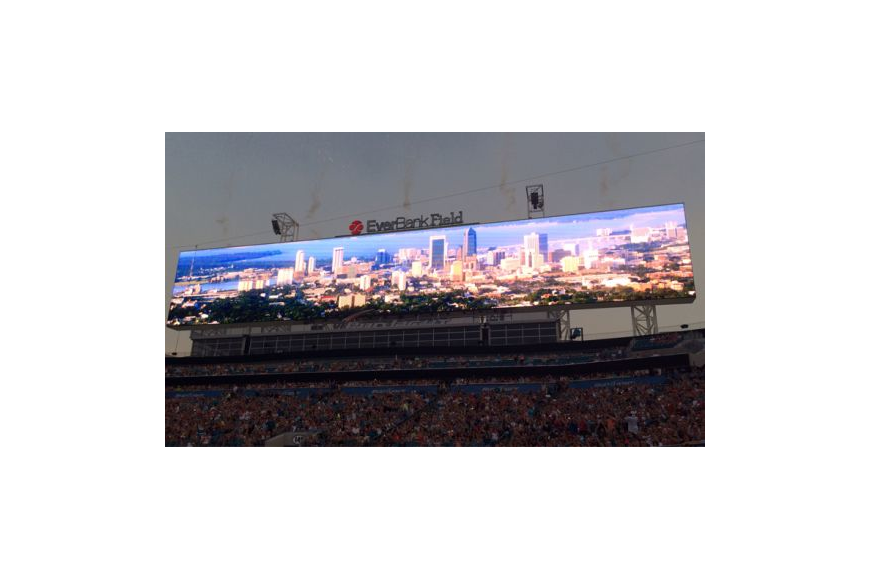 The world's largest scoreboards are among the improvements made at EverBank Field.