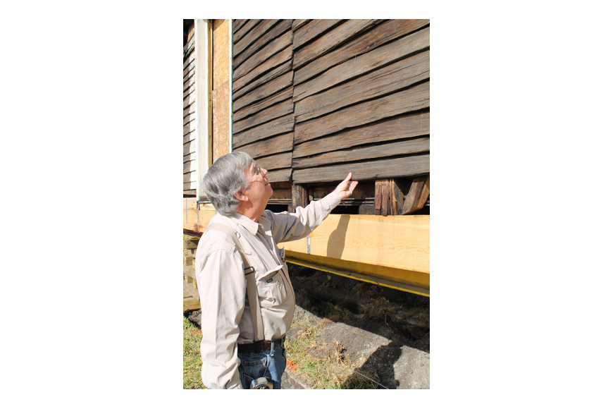 "White is a general contractor who specializes in historic restorations of wooden buildings. ""You have something extremely rare,"" he told the Beaches Area Historical Society after examining the 1873 Oesterreicher homestead. The siding was hand-split fr..."