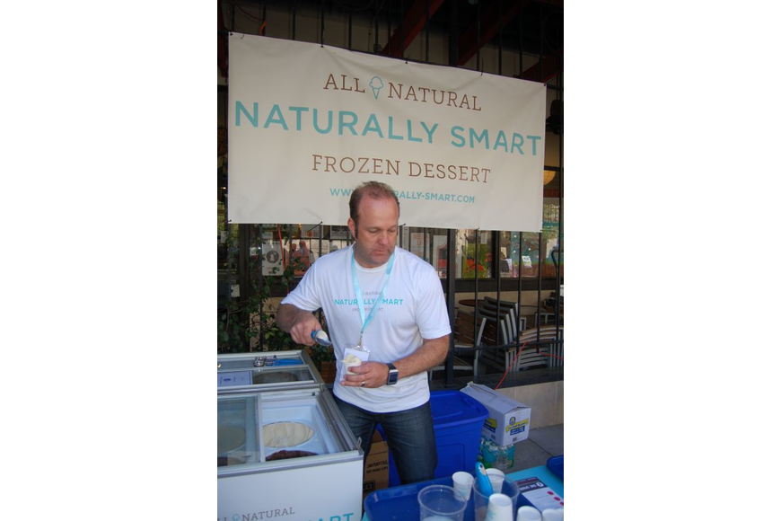 At One Spark 2014, Mark Patterson thought he'd pass out 10,000 samples of his high-protein frozen dessert. He ran out after 11,000 samples. Now sold locally in 40 stores, Patterson will begin shipping Naturally Smart desserts to Bahrain this month.