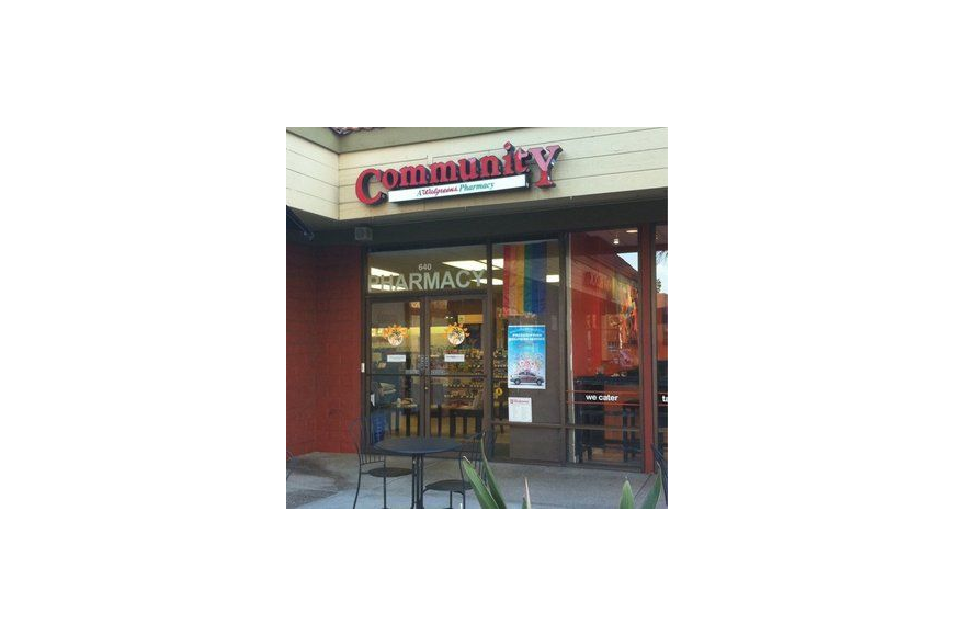 "A photo of ""Community, A Walgreens Pharmacy"" in San Diego. One is planned on North Main Street in Jacksonville."