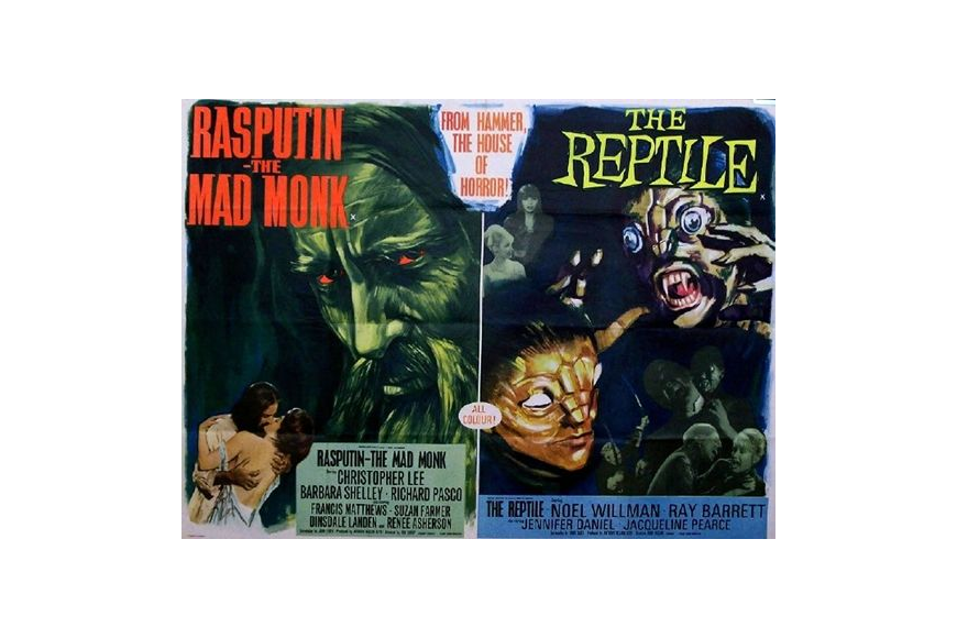 "The Fox and Midway drive-in theaters this week in 1966 were screening the first Jacksonville showing of ""Rasputin - The Mad Monk."" The horror film was part of a triple feature along with ""The Reptile"" and ""The Evil of Frankenstein."""