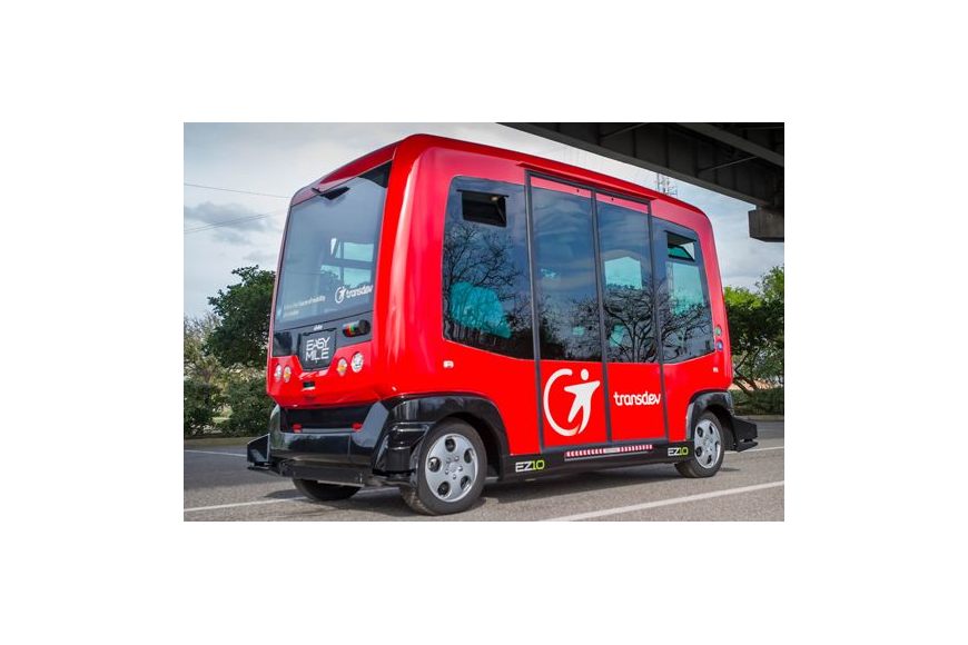 The Jacksonville Transportation Authority hosted a demonstration of the Easy Mile EZ10 driverless vehicle Wednesday in the parking lot across from Intuition Ale Works on Bay Street. It is one of the vehicles being considered for the future of the Skyw...