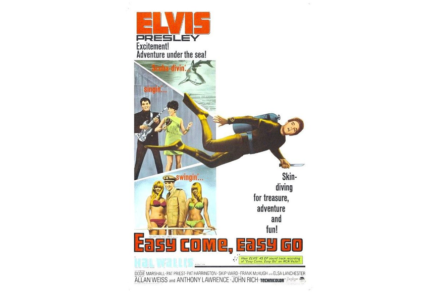 "The Blanding, Main Street and Southside drive-in theaters were screening the first Jacksonville showing of Elvis Presley's new movie, ""Easy Come, Easy Go"" this week in 1967."