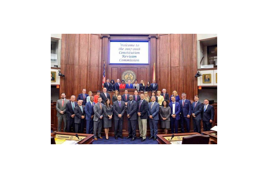 The 2017-18 Florida Constitution Revision Commission was sworn in March 20 in the Senate Chamber in Tallahassee.