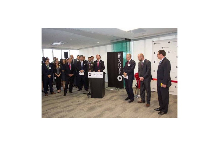 Gov. Rick Scott welcomed Macquarie to Jacksonville as it opened a financial services center in Riverplace Tower on the Downtown Southbank in 2016. It now wants to add 50 jobs with the help of city and state incentives.