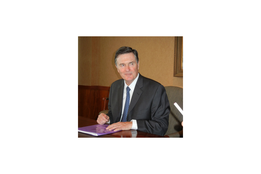 Photo by Karen Brune Mathis - Atlanta Federal Reserve Bank CEO Dennis Lockhart told a Jacksonville audience last week the economy is growing slowly.